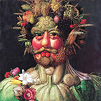 Rudolf II as Vertemnujs by Arcimboldo