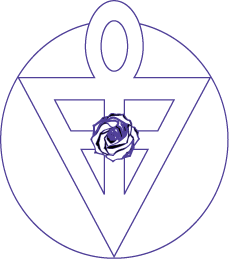 Ankh Triangle with Rose